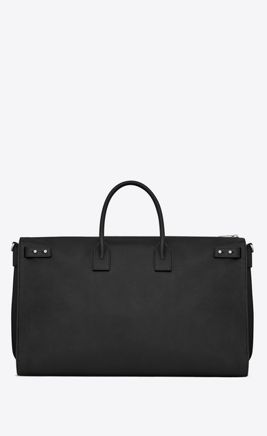 SAINT LAURENT Sac de Jour Men Man Sac de Jour Souple 72h duffle bag in black grained leather b_V4