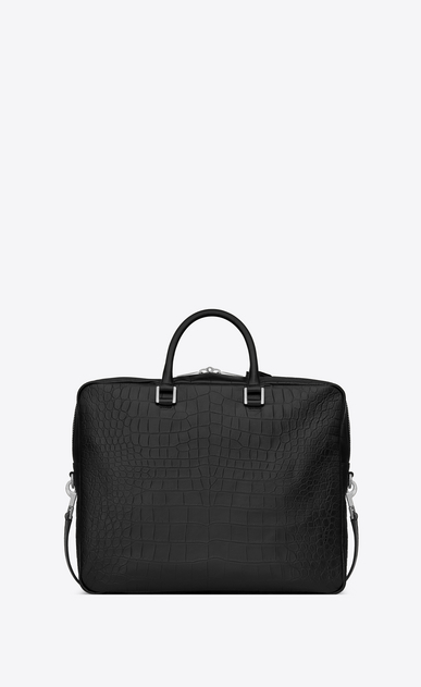 SAINT LAURENT Sac de Jour Men Man Sac de Jour Large briefcase in crocodile embossed leather b_V4