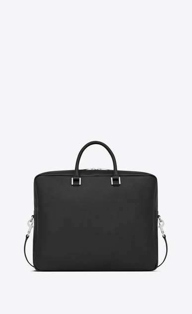 SAINT LAURENT Sac de Jour Men Homme Grand porte-documents SAC DE JOUR SOUPLE en cuir grainé noir b_V4