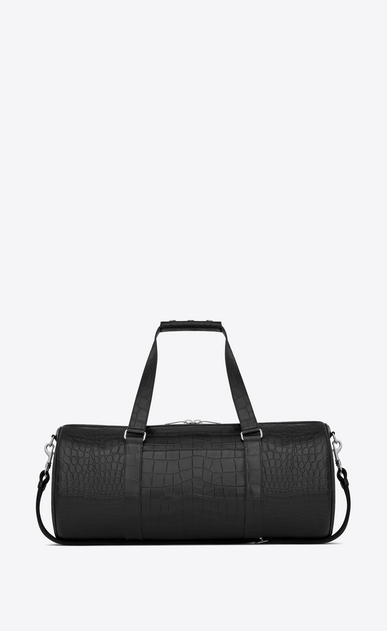 Noé gym bag in crocodile embossed leather