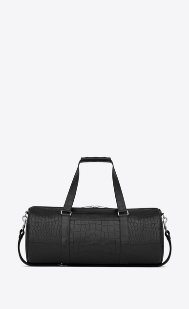 SAINT LAURENT Noé luggages Man Noé gym bag in stamped crocodile leather b_V4