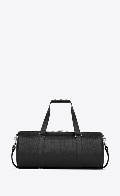 SAINT LAURENT Noé luggages Man Noé gym bag in crocodile embossed leather b_V4