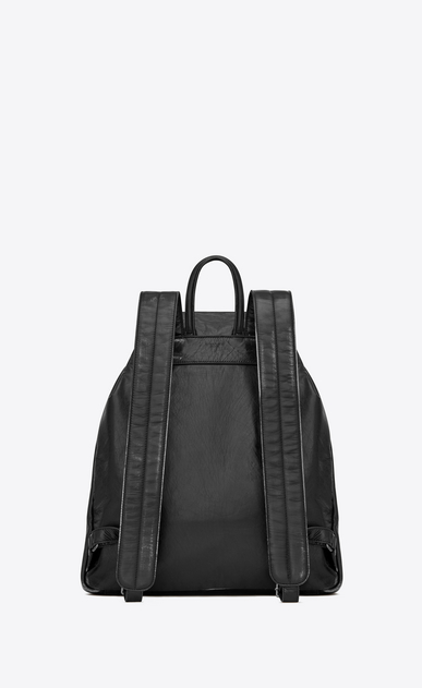 SAINT LAURENT Backpack Uomo Nino backpack in black vintage leather b_V4