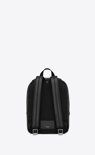 SAINT LAURENT Backpack Uomo City backpack in soft black leather b_V4
