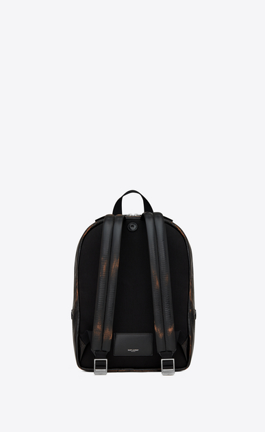 SAINT LAURENT Backpack Man City backpack in black and cognac vintage leather b_V4