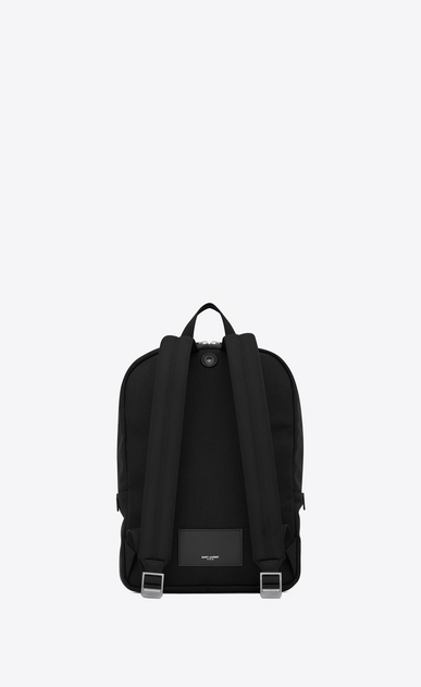 SAINT LAURENT Backpack Man CITY backpack in black canvas b_V4