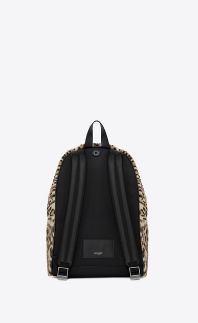 SAINT LAURENT Backpack Man City backpack in ocelot printed pony effect leather b_V4