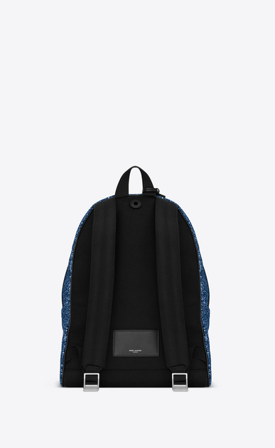 SAINT LAURENT Backpack Man City backpack in blue glitter b_V4