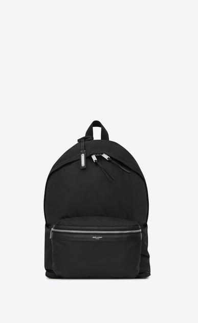 SAINT LAURENT Backpack Man Foldable City backpack in black nylon b_V4