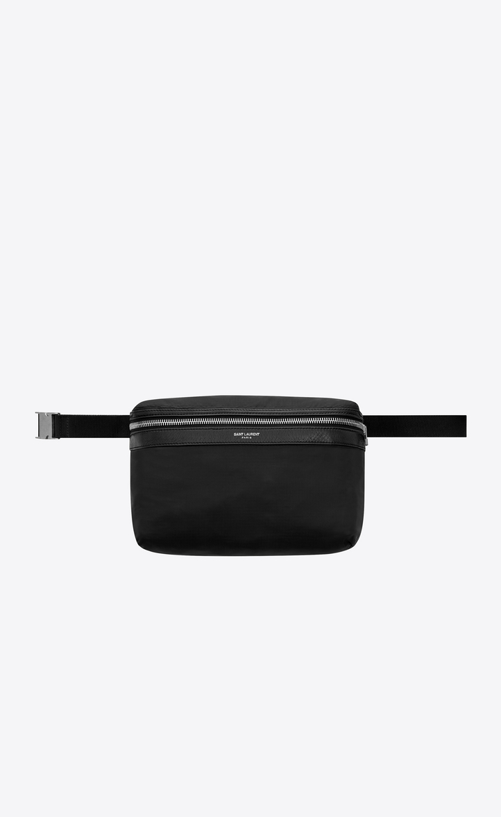 d0b98acb598a Saint Laurent Foldable City Backpack In Black Nylon
