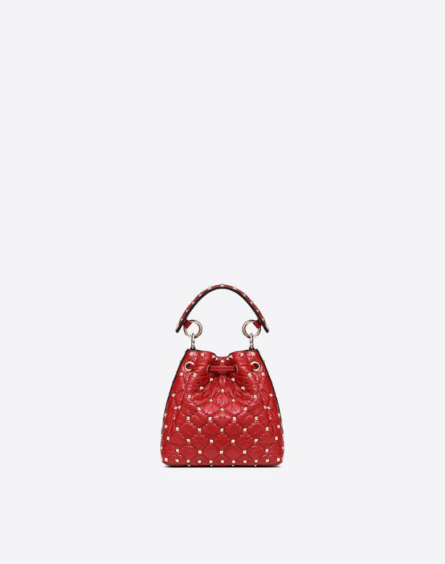 Small Cracked Lamb Spike Bucket Bag