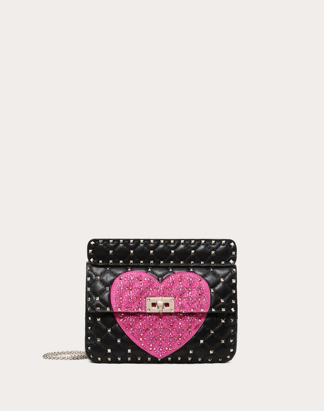 f599025a901 Medium Crystal Heart Spike Bag ...