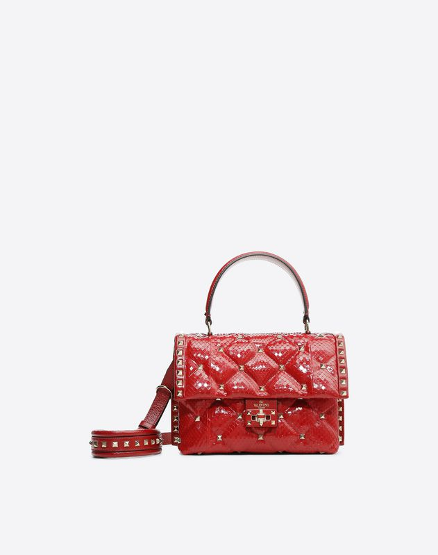 Python Candystud Top Handle Bag