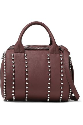 ALEXANDER WANG Rockie studded pebbled-leather shoulder bag