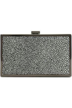 HALSTON HERITAGE Stingray-effect leather box clutch