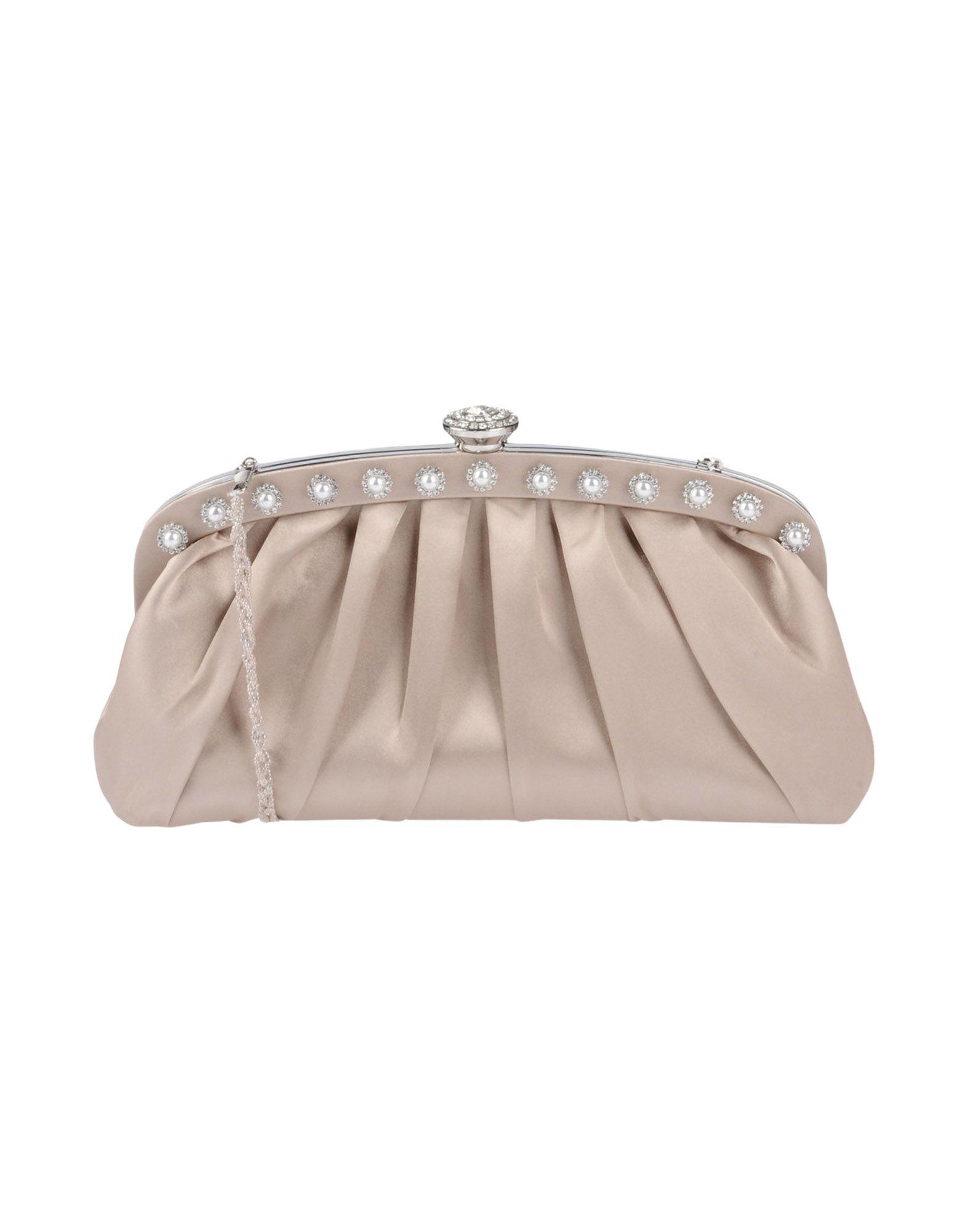 《送料無料》NINA レディース ハンドバッグ ベージュ 紡績繊維