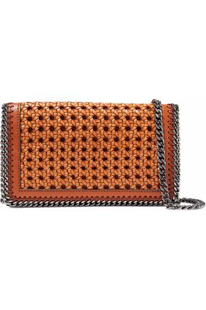 STELLA McCARTNEY Falabella woven leather shoulder bag