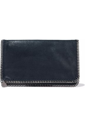 STELLA McCARTNEY Falabella brushed faux-leather clutch