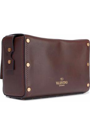 VALENTINO GARAVANI Appliquéd leather shoulder bag