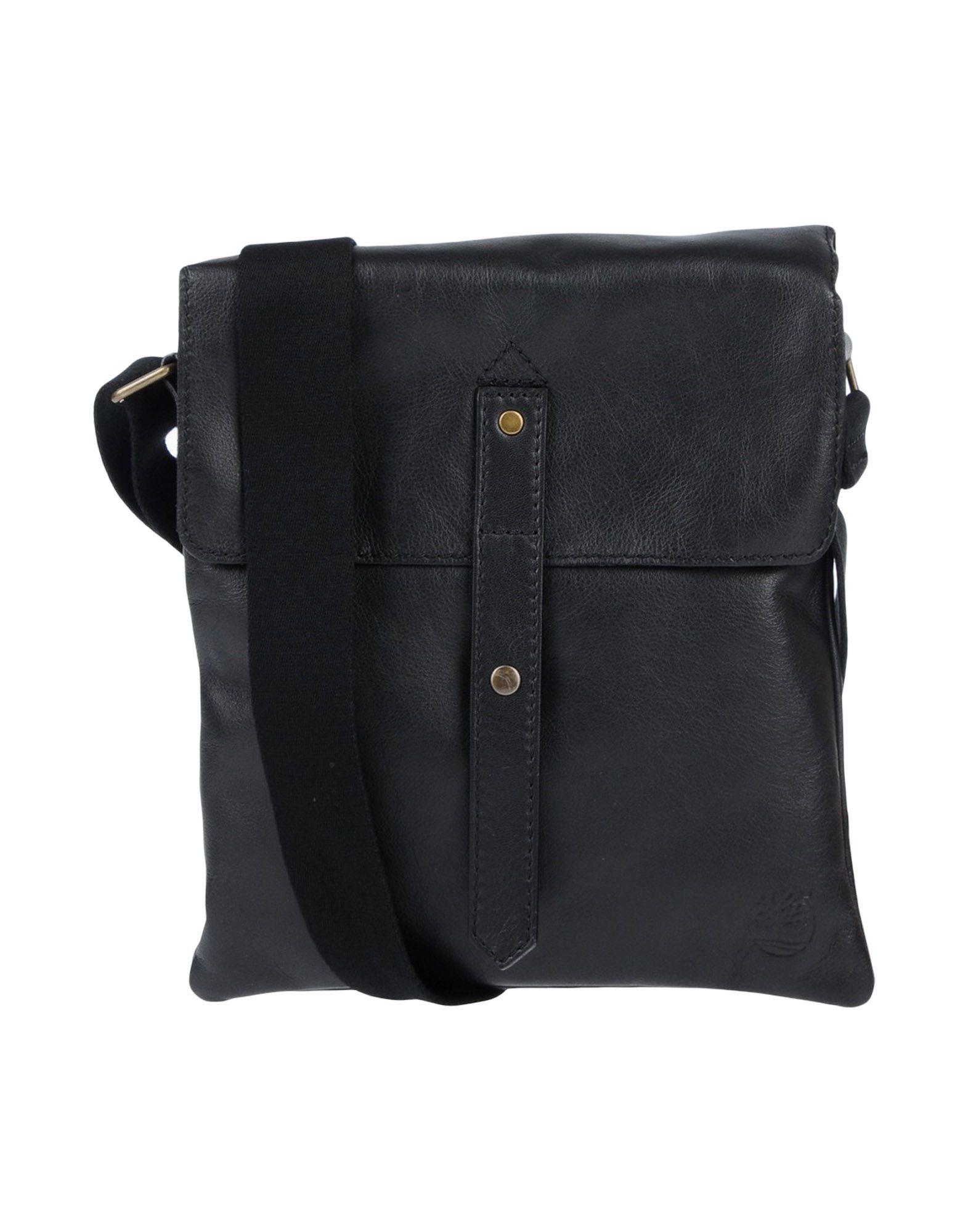 《送料無料》TIMBERLAND メンズ メッセンジャーバッグ ブラック 革