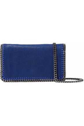STELLA McCARTNEY Falabella chain-trimmed faux brushed-leather shoulder bag