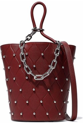 ALEXANDER WANG Roxy studded quilted pebbled-leather bucket bag