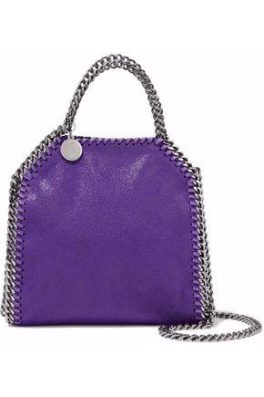 STELLA McCARTNEY Chain-embellished faux suede shoulder bag
