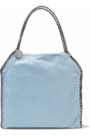 STELLA McCARTNEY Falabella small faux brushed-leather shoulder bag