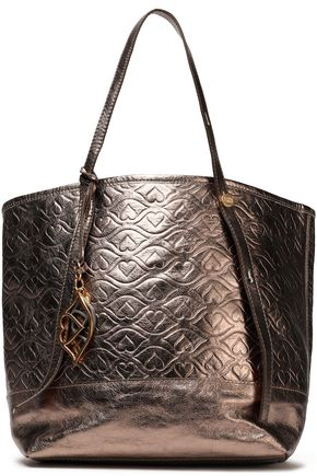 SEE BY CHLOÉ Bisou quilted metallic textured-leather tote