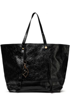 SEE BY CHLOÉ Bisou embossed glossed-leather tote