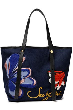 SEE BY CHLOÉ Appliquéd denim tote