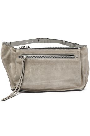 Rag   Bone Woman Ellis Suede And Leather Belt Bag Stone In Light Gray fcc9c72777328