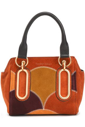 SEE BY CHLOÉ Mini patchwork suede shoulder bag