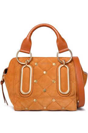SEE BY CHLOÉ Paige leather-trimmed quilted suede shoulder bag