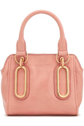SEE BY CHLOÉ Paige cracked-leather shoulder bag