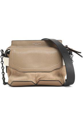RAG & BONE Micro Pilot suede-paneled leather shoulder bag