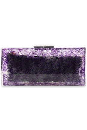 MISSONI Printed acrylic box clutch