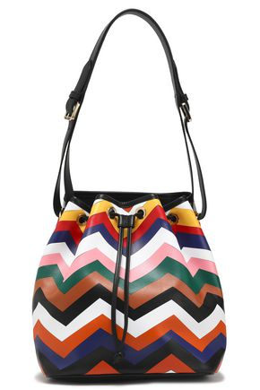 MISSONI Printed leather bucket bag