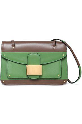 VALENTINO Striped leather shoulder bag