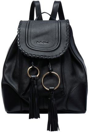 SEE BY CHLOÉ Tasseled textured-leather backpack