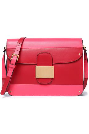 VALENTINO Two-tone leather shoulder bag