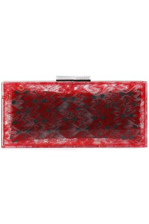 MISSONI Printed PVC clutch