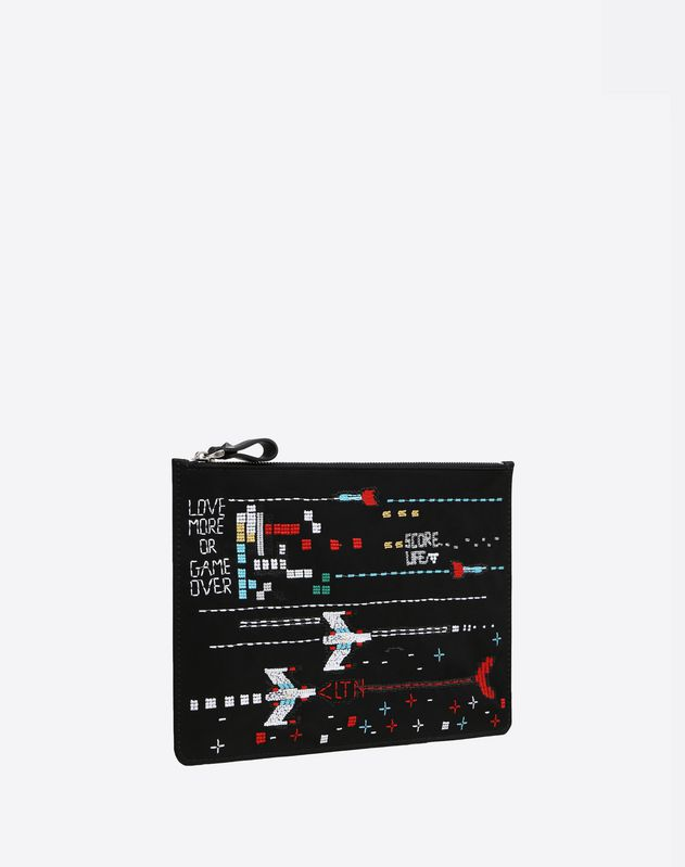 Arcade embroidered Pouch