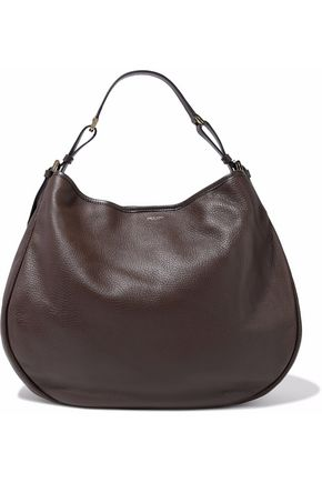 GIORGIO ARMANI Textured-leather shoulder bag