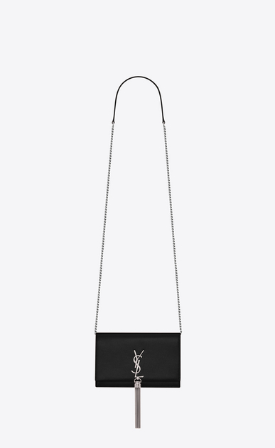 SAINT LAURENT Mini bags Kate Woman Kate chain wallet with tassel in grain de poudre embossed leather a_V4