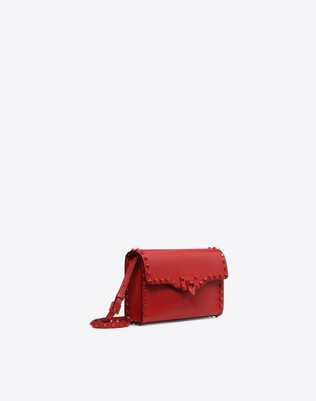 Lacquer Rockstud Shoulder Bag