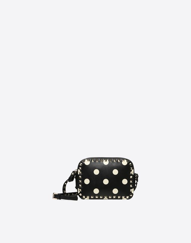 Polka Dot Rockstud Camera Bag