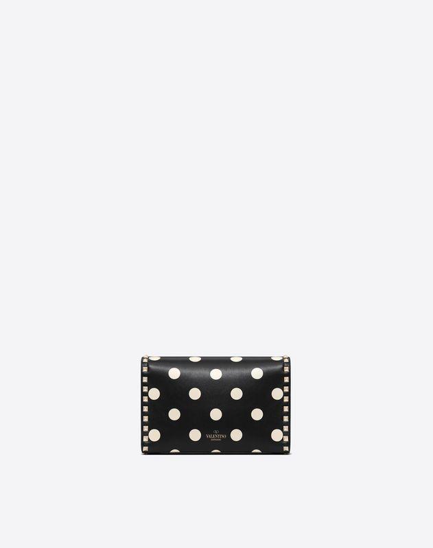 Polka Dot Rockstud Shoulder Bag