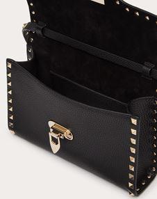 Small Rockstud Grainy Calfskin Crossbody Bag