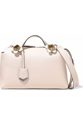 FENDI By The Way floral-appliquéd leather shoulder bag